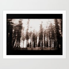 spinning forest Art Print