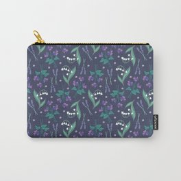 Violets, Lavender and Lily of the Valley Carry-All Pouch
