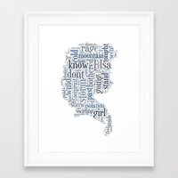 elsa Framed Art Prints featuring Elsa  by MollyW