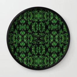 Dark Nature Collage Print Wall Clock