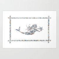 Rectangular Mermaid Art Print