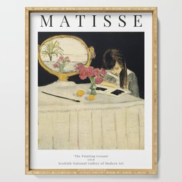 Henri Matisse - The Painting Lesson - Exhibition Poster Serving Tray
