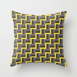 Plus Five Volts - Geometric Repeat Pattern Throw Pillow