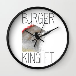 Burger Kinglet (Ruby-crowned Kinglet) Wall Clock