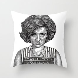 Big Hair Texas Trouble Throw Pillow