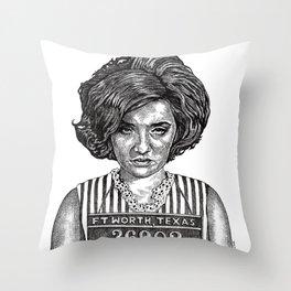 Big Hair Texas Trouble Throw Pillow