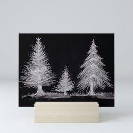Inverted Pine Trees Mini Art Print