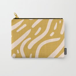 Earthy Mustard Yellow and Light Peach tribal inspired modern pattern Carry-All Pouch