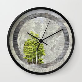 'Trees are sanctuaries' Wall Clock