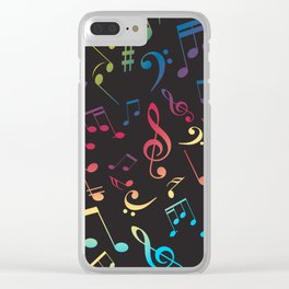 Musical Notes X Clear iPhone Case