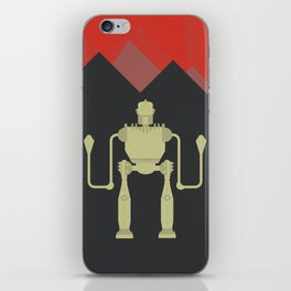 The Iron Giant, classic cartoon, minimal movie poster iPhone Skin