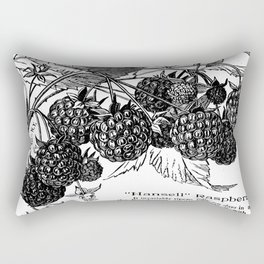 "'Hansell"" Raspberries 1886 Rectangular Pillow"