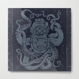 Mark V Octopus - navy Metal Print