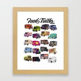 Food Trucks Framed Art Print