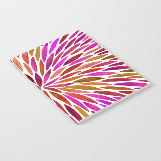 Pink Watercolor Burst Notebook