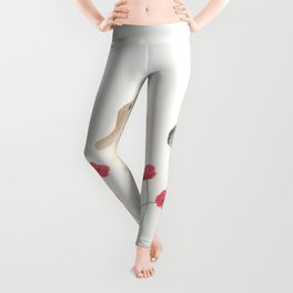 Baby Goats and Red Poppies Leggings