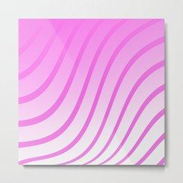 Purple Waves Metal Print