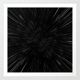 Planet Pixel Rush Art Print