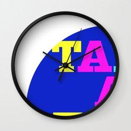 take a talk walk - MULTICOULOR Wall Clock