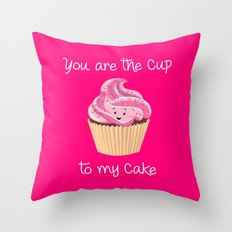 My cupcake - Pink version Throw Pillow