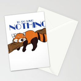 Lazy Red Panda Lover Animal Gift Shirt - To Do List Nothing T-Shirt Stationery Cards