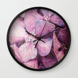 Sugar Coated Pink Hydrangea Wall Clock