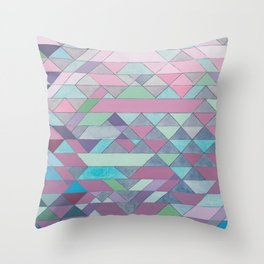 Triangle Pattern no.3 Violet Throw Pillow