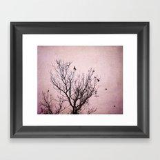 Plum Dusk Framed Art Print
