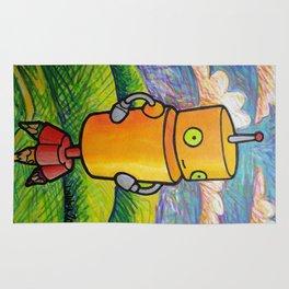 Robot - Drawbot Rug
