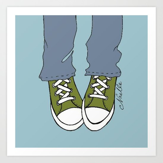 "Army Green ""Kicks"" Art Print"