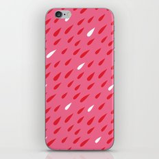 Red + Pink Droplets iPhone & iPod Skin