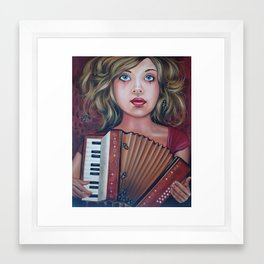 The Accordianist  Framed Art Print