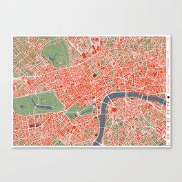 London city map classic Canvas Print