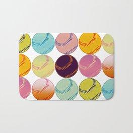 Pop Art Baseballs Bath Mat
