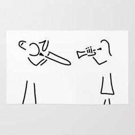 posaunist trumpet player brass player Rug