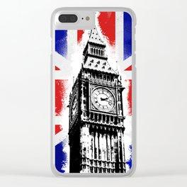 Union Jack Big Ben Clear iPhone Case