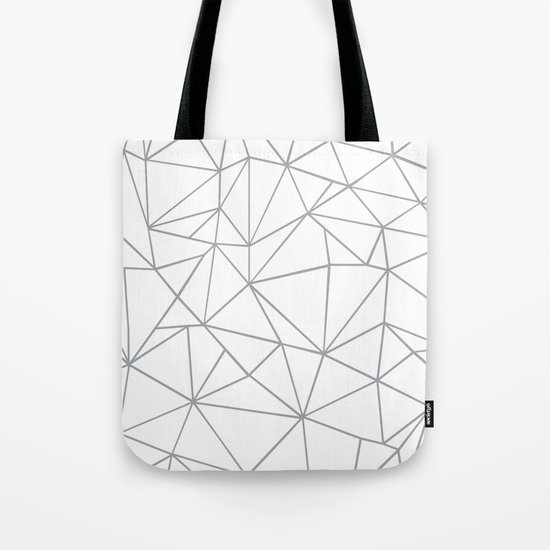 Ab Outline 2 Grey on White Tote Bag