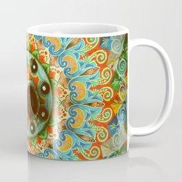 Rainbow Painted Cart Wheel Mandala Coffee Mug