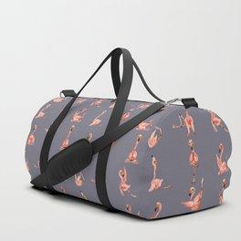 Flamingo Yoga Watercolor Duffle Bag