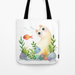 The Aquarium Cat Tote Bag