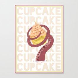 Cupcake Squid Canvas Print