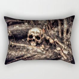 Bones In The Forest Rectangular Pillow