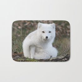 Polar Fox by Anne Elisabeth Bath Mat