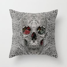 Lace Skull 2 Throw Pillow