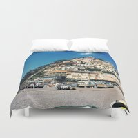 greece Duvet Covers featuring Greece by maargopolo