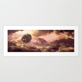 DragonBall Photoreal Series: Kaioh's planet Art Print
