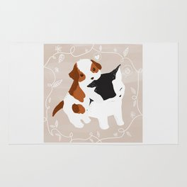 Puppy Cat Relationship Rug