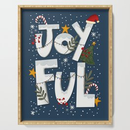 Joyful Holiday Serving Tray