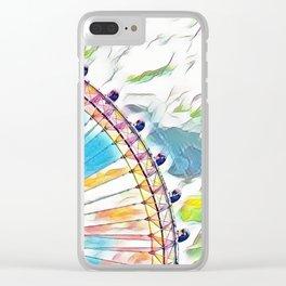 I Dream of Ferris Wheel Clear iPhone Case
