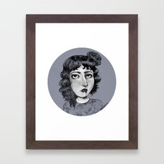 Rose Hair Sketch Framed Art Print